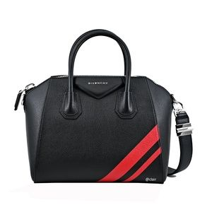 Givenchy Small Antigona Striped Leather Satchel